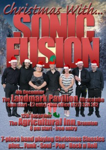 Christmas with Sonic Fusion Landmark Portrait Both Gigs